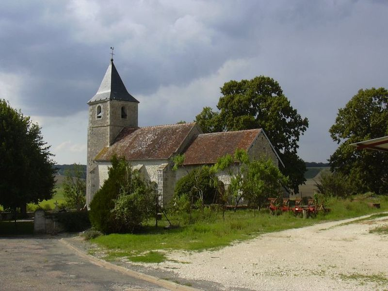 Sainte-Colombe's church in Rizaucourt-Buchey (Haute-Marne, Champagne-Ardenne, France).