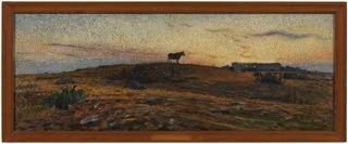 Öland Heath at Sunset