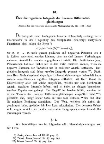 File:Über die regulären Integrale der linearen Differentialgleichungen.djvu