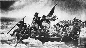 Washington Crossing the Delaware - Washington Crossing the Delaware (1849–1850) Original painting by Emanuel Leutze