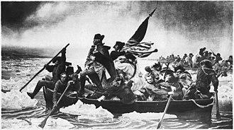 Washington Crossing the Delaware (1851 painting) - Washington Crossing the Delaware (1849–1850) Original painting by Leutze