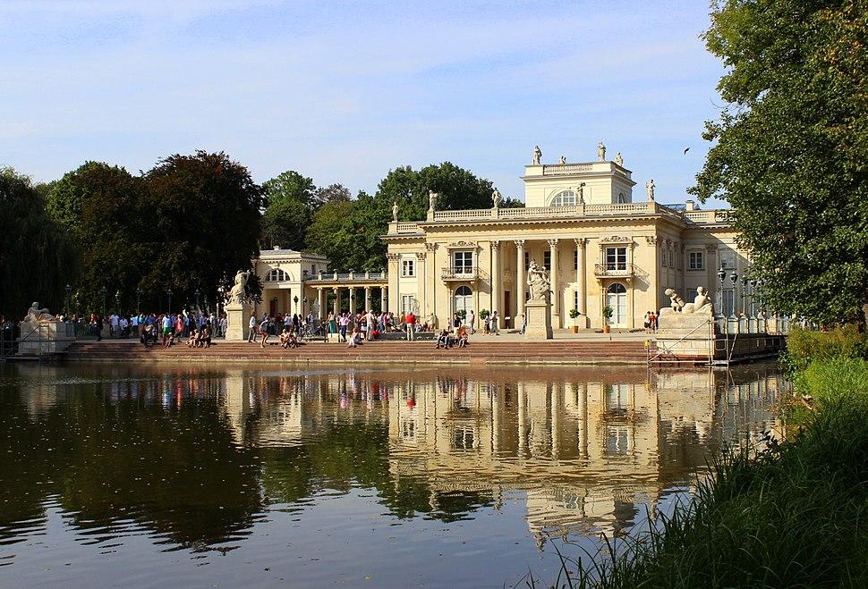 Łazienki Królewskie w Warszawie, Pałac na Wodzie