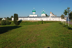 Alexander-Svirsky Monastery - View towards the Trinity Monastery from the Transfiguration Monastery