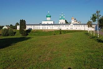 Alexander-Svirsky Monastery - View towards the Trinity Monastery from the Transfiguration Monastery
