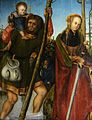 Пара 1-1 Святой Христофор и святая Екатерина (St. Christopher and St. Catherine) 1513-1518 60.5 х 50.5 д.,м. Кобург, худож. собрание замка Кобург.jpg