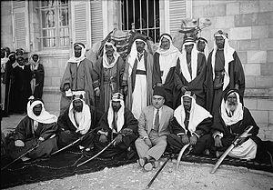 Tarabin bedouin - Al-Tarabin tribe Sheikhs year 1934 in Beer Sheva