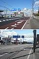 北海道道633号函館港線・国道227号交点(2枚合成、上・国道227号起点側から、下・同線終点(北斗市)側から).jpg