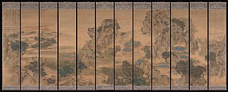 Hanging scroll - Image: 清 袁江 九成宮圖 屏 The Palace of Nine Perfections MET DP274140