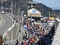 高知龍馬マラソン大会のランナーで埋め尽くされた仁淀川河口大橋.jpg