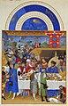 """랭부르 형제가 제작한 """"베리 공작의 매우 호화로운 기도서""""(Les Très Riches Heures du duc de Berry) 중 1월(Janvier.jpg"""