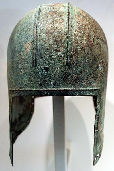 File:-0700--0600 Greek Bronze Helmet Altes Museum Berlin anagoria 01.jpg