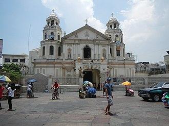 Quiapo Church - The façade of Quiapo Church from Plaza Miranda.
