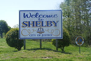 Shelby, Mississippi - Welcome sign