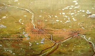 Twin City Rapid Transit Company - TCRT commissioned water-color painting of the streetcar system in the Twin Cities, originally completed in 1904; updated 1916.