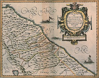 Philipp Clüver - Map from Italia Antiqua (1624)