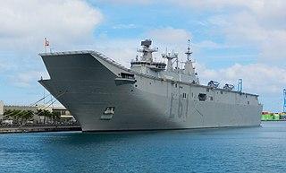 Spanish ship <i>Juan Carlos I</i> Amphibious assault ship