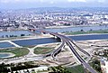 090R21310782 Blick vom Donauturm, Entlastungsgerinne in Bau, Blick Brigittenau, Brigittenauer Brücke.jpg