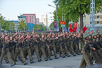 Korean People's Army Ground Force - Military parade in Pyongyang in 2015