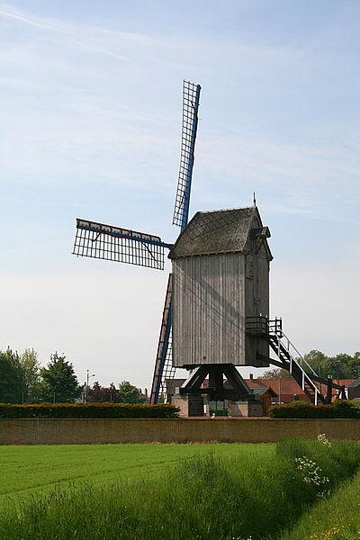 Hondschoote (Nord) France, Moulin du Nord. (classé)