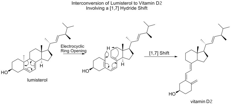 conversion of lumisterol to vitamin D