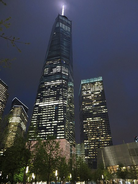 File:1-7 World Trade Center at night 2016.JPG