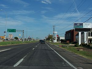 Frontage road - A frontage road for Texas State Highway 183 (Airport Freeway) in Irving, Texas