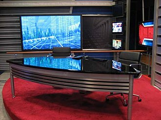 Fox Business Network - Studio F, the previous (now a FedEx Office) studio for Fox Business Morning and Fox Business
