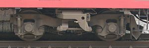 117 series - Type TR69H bogie on a JR-West 117 series (Sunliner rapid) January 2007