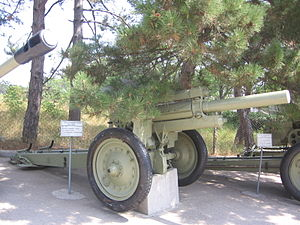 122 mm howitzer M1938 (M-30) - M-30 in Sevastopol.