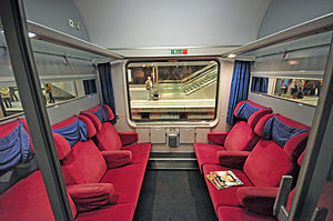 First class travel - First class car on the Berlin-Warszawa-Express.