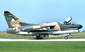 146th Air Refueling Squadron - A-7D 70-1017 about 1976