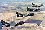 162d Tactical Fighter Squadron A-7D Corsair II Formation.jpg