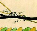 1671 Hasankeyf from Ottoman map of Tigris and Euphrates 2012 Kurşun Z Fig2.jpg