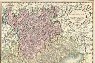County of Tyrol - Map of the County of Tyrol (1799)
