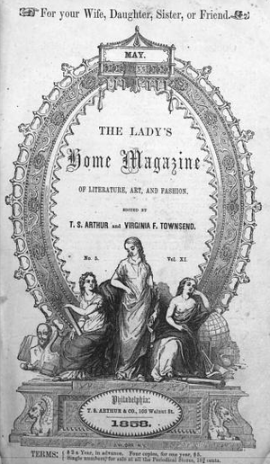 Arthur's Lady's Home Magazine - Image: 1858 Ladys Home Magazine v 11 no 5 Philadelphia