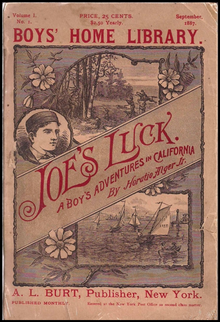 The cover of Horatio Alger's book Joe's Luck