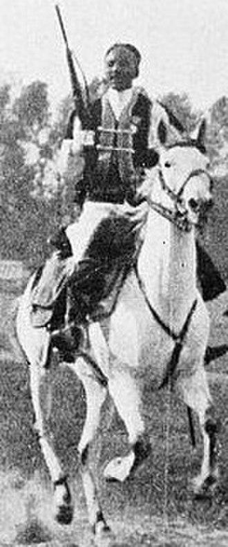 Colonial troops - Savari trooper (of the Italian colonial cavalry) in 1939 Italian Libya