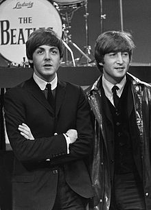 Paul and John in 1964 (image courtesy Wikimedia)