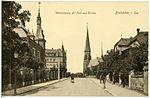 19658-Hainichen-1915-Wettiner Straße mit Post und Kirche-Brück & Sohn Kunstverlag.jpg