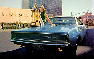 Dodge Charger - 1968 Dodge Charger with Miss American Teen-Ager (6231649457)
