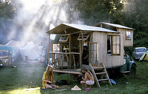 Alternative lifestyle - Housetruckers. Photo taken at the 1981 Nambassa 5 day festival