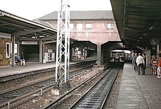 Berlin Warschauer Straße station - S-Bahnhof Warschauer Straße (1992)