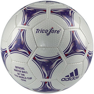 Football (ball) - Adidas Tricolore, the official ball for the 1998 World Cup