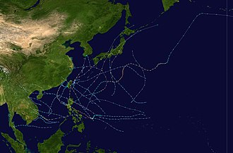 1998 Pacific typhoon season - Image: 1998 Pacific typhoon season summary