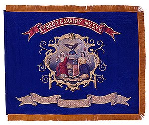1st Regiment New York Volunteer Cavalry - The 1st Regiment's regimental banner.