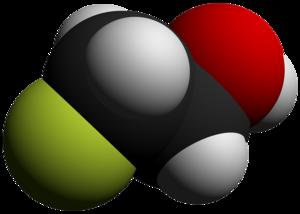 2-Fluoroethanol - Image: 2 Fluoroethanol 3D vd W by AHRLS 2012