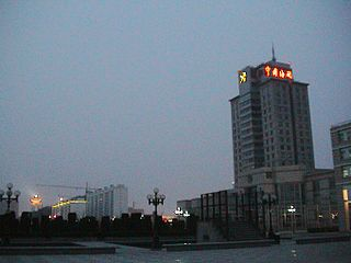 Tianjin Economic-Technological Development Area main free market zone in Binhai, Tianjin, China