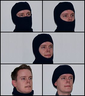 Balaclava (clothing) woollen cap covering the head and neck leaving the face revealed