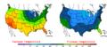 2008-04-29 Color Max-min Temperature Map NOAA.png