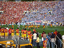 a20c518b4b3 UCLA-USC football game at the Rose Bowl  the 2008 edition marked a return  to the tradition of both teams wearing home jerseys
